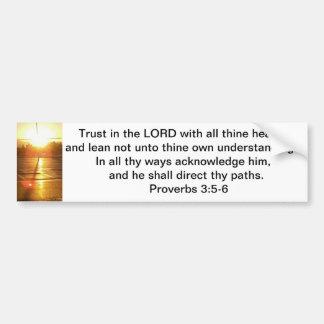 3:5 de los proverbios - pegatina para el parachoqu pegatina para auto