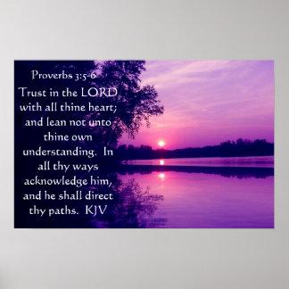 3:5 de los proverbios - poster de 6 puestas del so póster