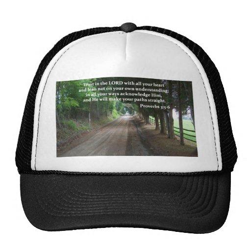 3:5 de los proverbios - poster del verso de la bib gorro de camionero