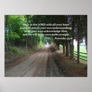 3:5 de los proverbios - poster del verso de la bib póster
