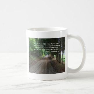 3:5 de los proverbios - poster del verso de la bib tazas de café