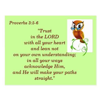 3:5 de los proverbios - tarjeta de memoria de 6 es postal