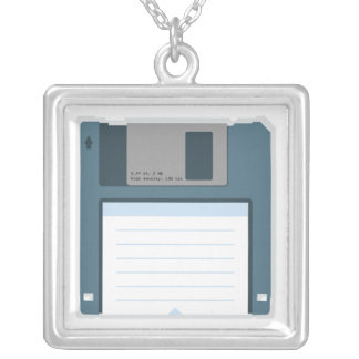 3.5 Floppy Disk Necklace (front of disk)