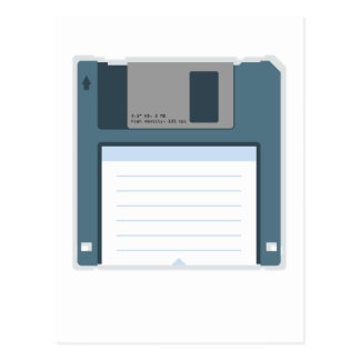 3.5 Floppy Disk Postcard (front of disk)