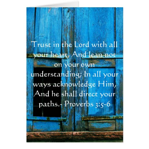 3:5 inspirado de los proverbios de la cita de la b tarjeton