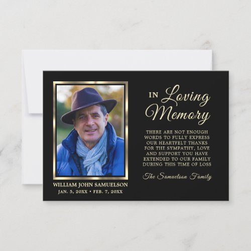 35x5 Sympathy Funeral Memory THANK YOU Photo