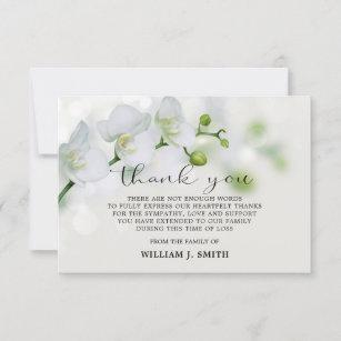 "3.5""x5"" Sympathy White Orchids THANK YOU   PHOTO"