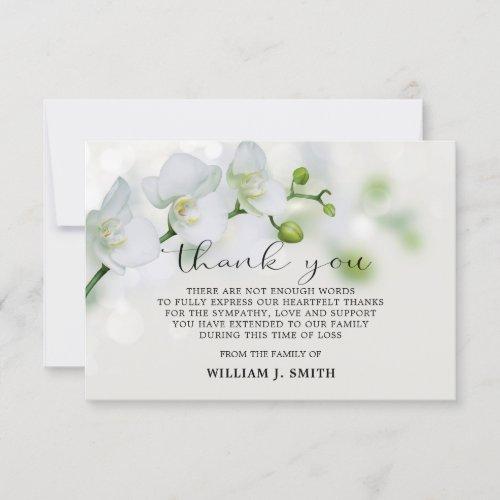 35x5 Sympathy White Orchids THANK YOU  PHOTO