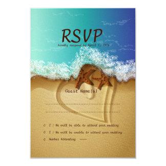 "3.5"" x 5""  Beach Starfish Wedding RSVP Card 3.5"" X 5"" Invitation Card"