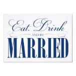 3,5 x 5 comen, bebida y sean recinto casado del | invitación personalizada