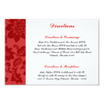 3.5 x 5 Direction Card Black Flourish Red Stripe Announcement