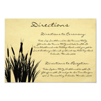 3.5 x 5 Direction Card Cattail/Dragonfly Silhouett