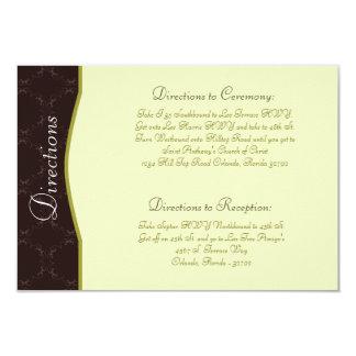 3.5 x 5 Direction Card Light/Olive Green Chandelie