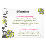 3.5 x 5 Direction Card Lime Green/Hot Pink Flower