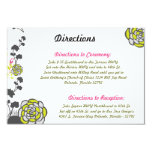 3.5 x 5 Direction Card Lime Green/Hot Pink Flower Invitations