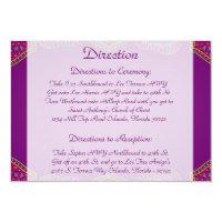 3.5 x 5 Direction Card Purple Palace India (<em>$2.23</em>)