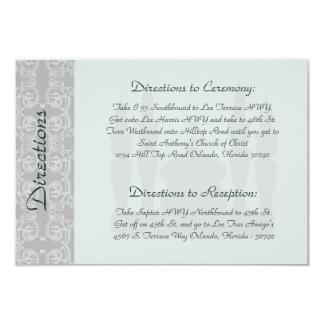 3.5 x 5 Direction Card Soft Blue Islamic Ramadan B