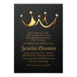 """3,5"""" x 5"""" ducha nupcial de la corona real de la invitación 8,9 x 12,7 cm"""