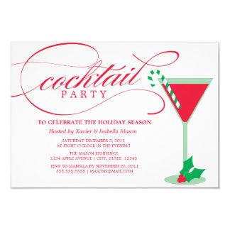 3,5 x 5 el fiesta del cóctel | invita invitación 8,9 x 12,7 cm