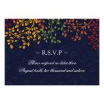 3.5 x 5 - Fall Wedding Reply Cards
