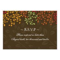 "3.5 x 5 - Fall Wedding Reply Cards 3.5"" X 5"" Invitation Card"