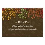 3.5 x 5 - Fall Wedding Reply Cards Invitation