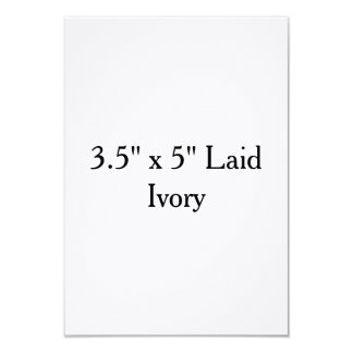 """3.5"""" x 5"""" Laid Ivory Personalized Invitations"""