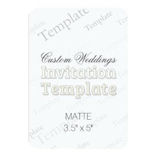 "3.5"" x 5"" Matte Custom Wedding Invitation Round"