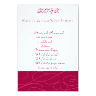 3.5 x 5 R.S.V.P Raspberry Pink Loops/S Card