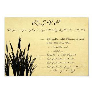 3.5 x 5 R.S.V.P Reply Card Cattail/Dragonfly Silho
