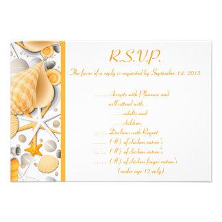 3,5 x 5 Seashells clasificados Orán de la tarjeta  Comunicados Personales