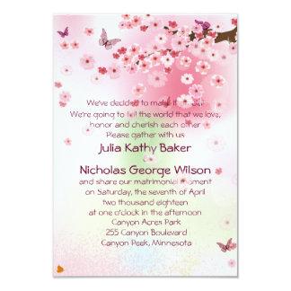 "3.5"" x 5""   Spring Flowers  wedding Invitation 3.5"" X 5"" Invitation Card"