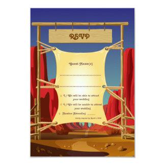 """3.5"""" x 5"""" Wild West RSVP Wedding Card"""