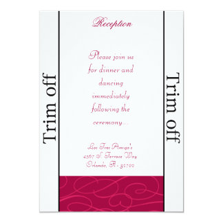 3.5 x 7 Reception Raspberry Pink Loops Card