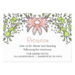 3.5x2.5 Reception Cards - Floral Border Business Card Template