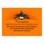 3.5x2.5 Reception Cards - Halloween Love Business Card Template