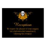 3.5x2.5 Reception Cards - Halloween Skull Business Card