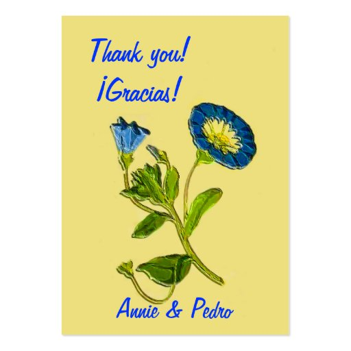 "3.5x2.5"" 'Thank you' (Gracias) /Bookmark 100 cards Business Cards"