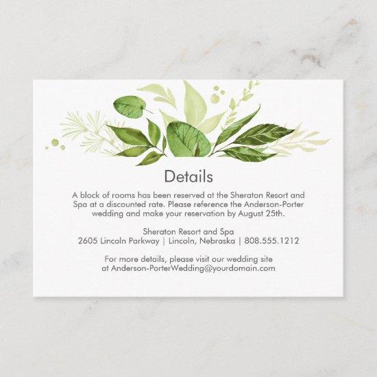 3.5x5 Botanical Rustic Greenery Enclosure Cards