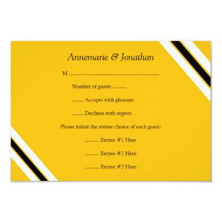3.5x5 Modern Bold Black Yellow Horizontal Stripes Card
