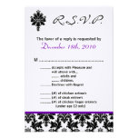 3.5x5 R.S.V.P. Card Black Purple Damak Personalized Invitation