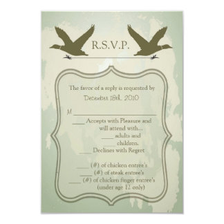 3.5x5 R.S.V.P. Card Country Duck Hunting Rustic Invites