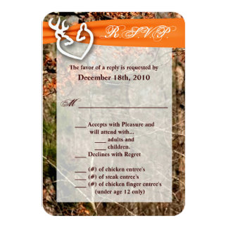 3.5x5 R.S.V.P. Card Deer Couple Doe Buck Camo