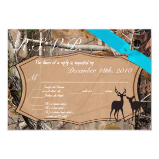 3.5x5 R.S.V.P. Card Hunters Camo Camoflauge Deer