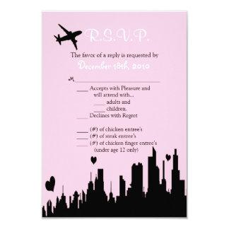 3.5x5 R.S.V.P. Card Pink City Line