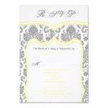 "3.5x5 R.S.V.P. Card Wedding Damask 3.5"" X 5"" Invitation Card"