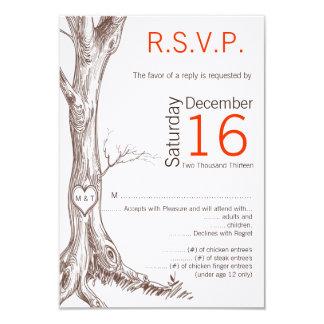 3.5x5 R.S.V.P. Card Wedding Fall Tree