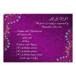 3.5x5 R.S.V.P Reply Card Arabian Purple