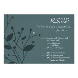 3.5x5 R.S.V.P Reply Card Twilight Twigs Personalized Announcement