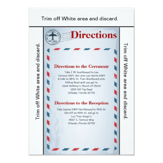 3.5x6 Directions Card Air Mail Plane USPS Postal